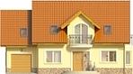 Projekt domu Sosna - elewacja przednia