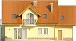 Projekt domu Sosna - elewacja tylna