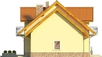 Projekt domu Sosna - elewacja boczna 2