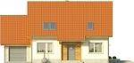 Projekt domu Jodła - elewacja przednia