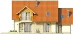 Projekt domu Jodła - elewacja tylna