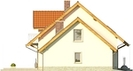 Projekt domu Jodła - elewacja boczna 2