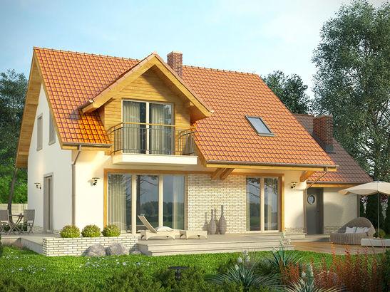 Projekt domu Jodła - widok 1