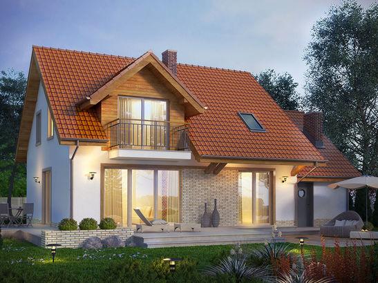 Projekt domu Jodła - widok 3