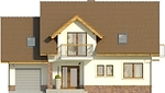Projekt domu Natura - elewacja przednia
