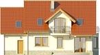 Projekt domu Czereśnia - elewacja tylna