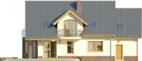 Projekt domu Magnolia - elewacja tylna