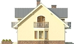 Projekt domu Akacja - elewacja boczna 1
