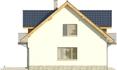 Projekt domu Wierzba - elewacja boczna 1