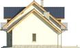 Projekt domu Wierzba - elewacja boczna 2