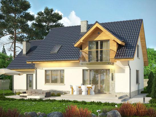 Projekt domu Wierzba - widok 1