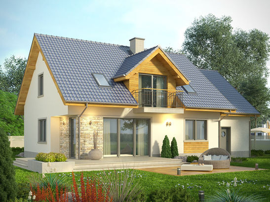 Projekt domu Kasztan - widok 1