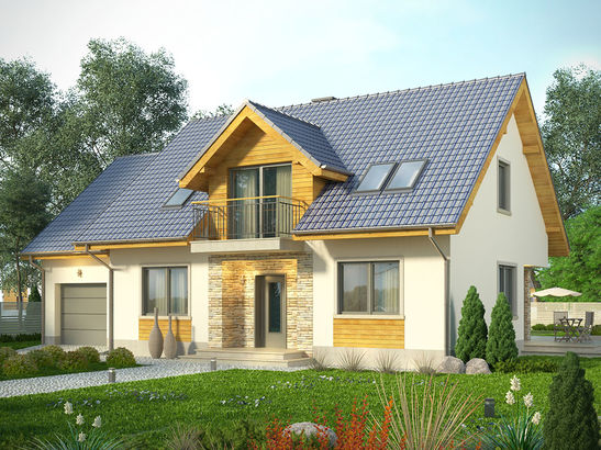 Projekt domu Kasztan - widok 2