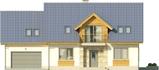 Projekt domu Kasztan 2g - elewacja przednia
