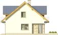 Projekt domu Kasztan 2g - elewacja boczna 1