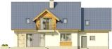 Projekt domu Kasztan 2g - elewacja tylna