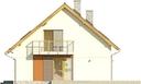 Projekt domu Lawenda - elewacja boczna 1