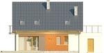 Projekt domu Lawenda - elewacja tylna
