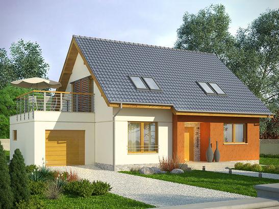 Projekt domu Lawenda - widok 1