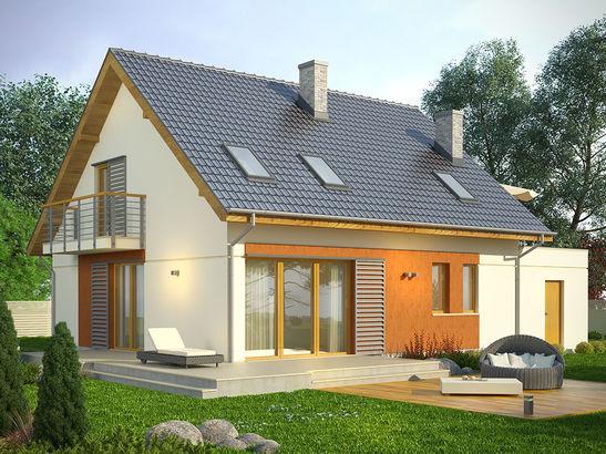 Projekt domu Lawenda - widok 2