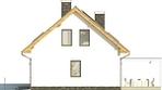 Projekt domu Lotos - elewacja boczna 1
