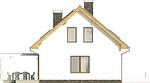 Projekt domu Lotos - elewacja boczna 2