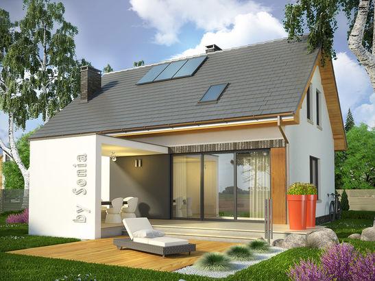 Projekt domu Lotos - widok 1