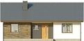 Projekt domu Fuksja - elewacja przednia