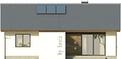 Projekt domu Fuksja - elewacja tylna