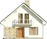 Projekt domu Bielinek 2 - elewacja przednia