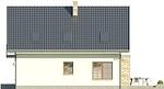 Projekt domu Bielinek 2 - elewacja boczna 1
