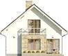 Projekt domu Bielinek 2 - elewacja tylna