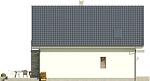 Projekt domu Bielinek 2 - elewacja boczna 2