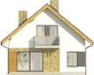 Projekt domu Joga - elewacja tylna