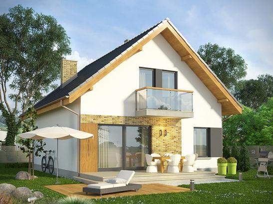 Projekt domu Joga - widok 1