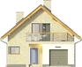 Projekt domu Panorama - elewacja przednia
