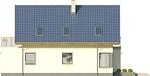 Projekt domu Panorama - elewacja boczna 1