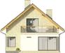 Projekt domu Panorama - elewacja tylna