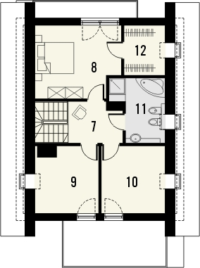 Projekt domu Panorama - rzut poddasza