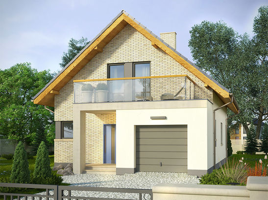 Projekt domu Panorama - widok 2