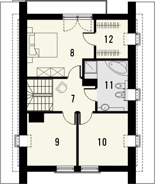 Projekt domu Panorama 2 - rzut poddasza