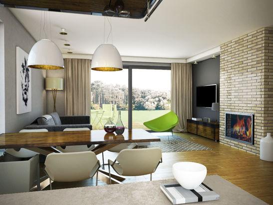 Projekt domu Kiwi - Projekty domów z wnętrzami.