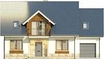 Projekt domu Wanilia - elewacja przednia