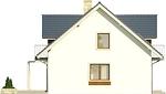Projekt domu Wanilia - elewacja boczna 1
