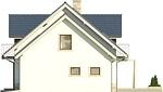 Projekt domu Wanilia - elewacja boczna 2