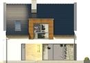 Projekt domu Aviator  - elewacja tylna