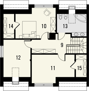 Projekt domu Aviator 3 - rzut poddasza