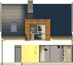 Projekt domu Aviator 5 - elewacja boczna 1