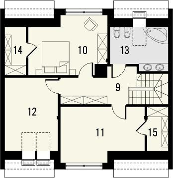 Projekt domu Aviator 5 - rzut poddasza