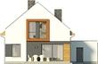 Projekt domu Pionier - elewacja tylna
